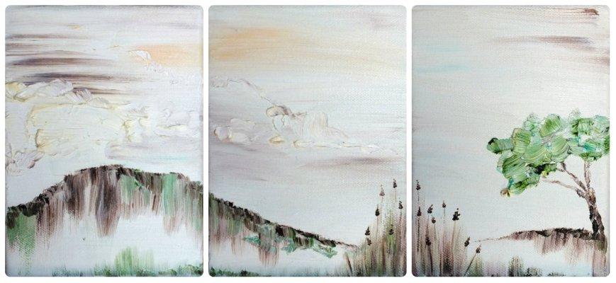 Huiles sur toile. Année 2010. 3 Formats 12.5X18 cm.
